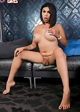 Gorgeous tgirl Victoria Banks has an amazing curvy body, big boobs and a perfect thick booty and she is eager to show them off. Watch her posing for y