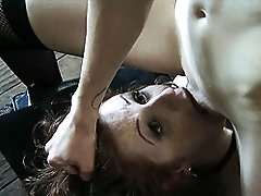 Mistress Mandy Mitchell gives the intruder a lesson