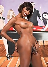 Horny as she always is, black tgirl superstar Natassia Dreams strips down, shows off her amazing body, long legs and her perfect ass!