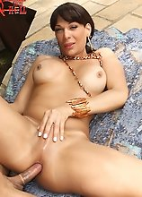 Marcus sucks sexy tranny Marcela's cock and lets her do anything to him