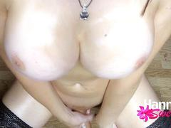 Gothic Shemale Stripping And Stroking Her Oiled Up Shecock