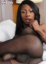 Kourtney Dash is a stunning slim tgirl with big tits, a great ass and a huge hard cock! Watch this hot ebony transgirl jacking her massive cock!