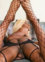 Black tgirl Amiyah Love enjoys showing off her sexy body, long legs and her amazing ass! Watch her stroking her cock until she cums!