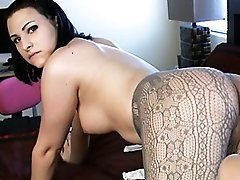 Beautiful tgirl Bailey Jay getting naughty on the bed