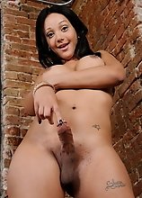 Hot Sunshyne shows her huge hard dick