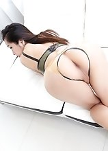Asian, Toys, Solo Masturbation, Big Dick, Brunette, Shemale & Tranny, Ass, Cumshot, Lingerie, Ladyboy